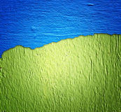 Blue and green wall texture Royalty Free Stock Image