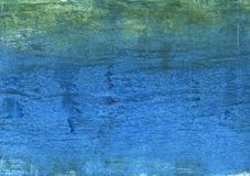 Blue green wash drawing picture. Hand-drawn abstract watercolor texture. Used contrasting and transient colors Stock Photos