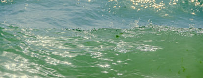 Blue, green water waves, Black Sea sandy shore, seaside with wat Royalty Free Stock Photography