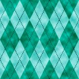 Blue and green watercolor argyle background. Seamless pattern good for web pages or as wallpaper royalty free illustration