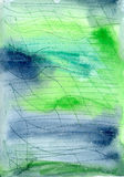 Blue green watercolor background Royalty Free Stock Photography