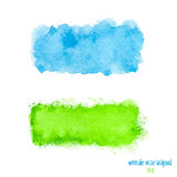 Blue and green watercolor banner Stock Photography