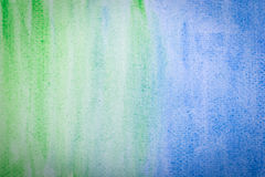 Blue and green watercolor paper texture Royalty Free Stock Image