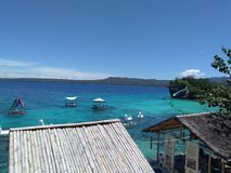 Blue Green Waters of Siquijor. Lovely blue green waters of Siquijot Stock Images