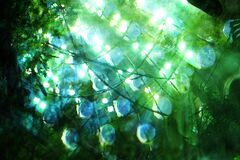 blue-green watery abstract Royalty Free Stock Photos