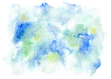 Blue and green watery illustration. Stock Photo