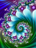Blue and green wave fractal Royalty Free Stock Image