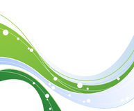 Blue and green waved elements. Abstract background with waved blue and green elements Royalty Free Stock Photography