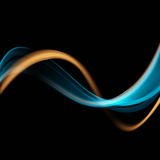Blue and green waves on black background.Abstract background. Eps10 royalty free illustration
