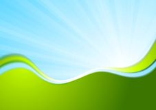 Blue and green wavy abstract background Royalty Free Stock Photography