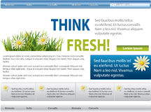 Blue-green website with flowers Royalty Free Stock Images