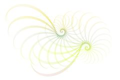 Blue Green White Fractal Abstract Design Stock Images