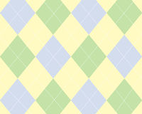 Blue, green and yellow argyle Royalty Free Stock Photos