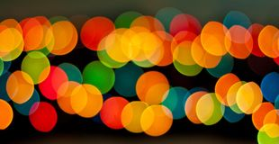 Blue, green, yellow and red bokeh, soft light abstract backgroun Stock Photos
