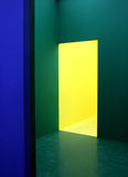 Blue,green and yellow walls Royalty Free Stock Photography