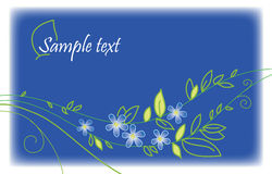 Blue greeting card Royalty Free Stock Images
