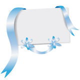 Blue greeting card Royalty Free Stock Photo