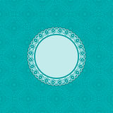 Blue Greeting Card Template Royalty Free Stock Photos