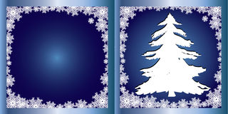 Blue Greetings card Firtree Royalty Free Stock Photo