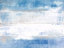 Blue and Grey Abstract Art Painting. Abstract art by T30 Gallery Royalty Free Stock Photos