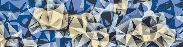 Blue and grey abstract background. In panorama Royalty Free Stock Photos