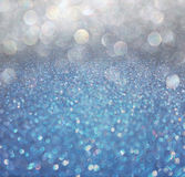 Blue and grey abstract bokeh lights. defocused bac Royalty Free Stock Photo