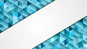 Blue and grey abstract tech low poly mosaic video animation stock video