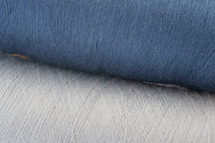 Blue and grey background from threads Stock Photo