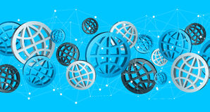 Blue grey and black digital web icons '3D rendering' Royalty Free Stock Photography
