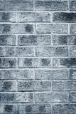 Blue grey brick wall texture and background Royalty Free Stock Photos