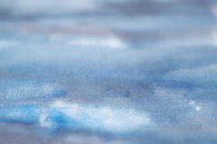 Blue Grey. Blue and grey colored painted backgrounds, Watercolor with similarity of a landscape with water and sky, sea, air, land and ocean, bright style with Stock Photos