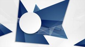 Blue grey corporate polygonal video animation stock video