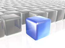 Blue and grey cubes Royalty Free Stock Photography