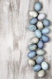Blue and grey Easter eggs Royalty Free Stock Images