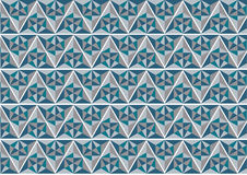 Blue and grey geometric pattern background; abstract modern graphic design Stock Photography