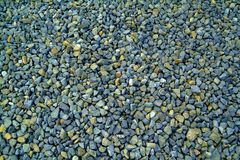 Blue-grey gravel texture. Blue grey gravel texture, broken stone Royalty Free Stock Image