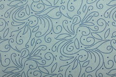 Blue-grey  handmade art paper with dotted twirls Royalty Free Stock Images