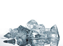 Blue-grey ice Stock Photography