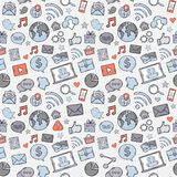 Blue,grey,red Sticker mobile apps Stock Photo