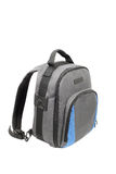 Blue and grey rucksack Stock Photo