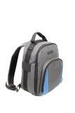 Blue and grey rucksack stock photo