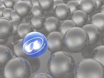 Blue and grey spheres Stock Image