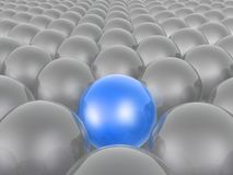 Blue and grey spheres. As abstract background, 3D illustration royalty free illustration