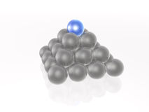 Blue and grey spheres Royalty Free Stock Image