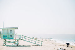 Blue Grey Wooden Beach Cottage during Day Time Royalty Free Stock Photo