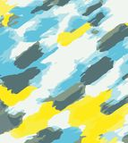 Blue grey and yellow abstract background. Blue grey and yellow painting abstract background Royalty Free Stock Photos