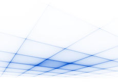 Blue grid 3D surface. Surface of the blue squares in perspective Stock Images