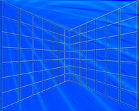 Blue Grid Royalty Free Stock Photo