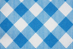 Blue Grid Fabric Texture stock image