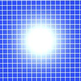 Blue Grid with Light Stock Image